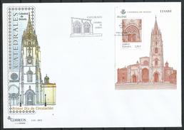 "España_FDC_2012_Catedrales. ""Catedral De Oviedo"" - FDC"