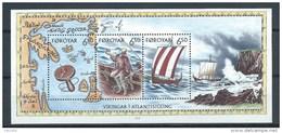 Féroé 2002 Bloc N°12 (n°414/416) Neufs Les Vikings En Atlantique