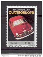 TIMBRE NOUVEAU VOITURE CAR AUTO ITALIE - ALFA ROMEO REVUE QUATTRORUOTE MNH - Coches