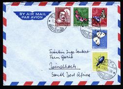 A4516) Schweiz Brief Von Basel 17.12.56 Mit Mi.632-636 Nach Südwestafrika - Pro Juventute