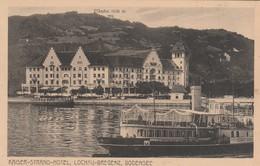 Lochau-Kaiser Strand Hotel-Dampfschiff Stadt Bregenz. - Lochau