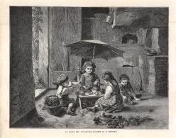 1882 - La Reine Des Vendanges - D'après M. P. Seignac - Dim. 245 X 190 Mms - Voir Description - Stampe & Incisioni