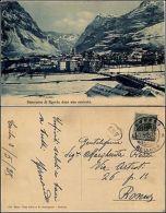 Agordo, Belluno, Panorama Dopo Una Nevicata, Viaggiata 1915 - Belluno