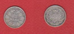Allemagne  --  1/2 Mark 1907 A   --  Km # 17 --  état  TB+ - 1/2 Mark