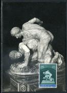 Saint Marin - Carte Maximum 1955, Sport , La Lutte
