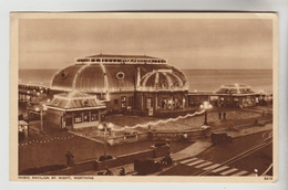 CPSM WORTHING (Angleterre-Sussex) - Music Pavilion By Night - Worthing
