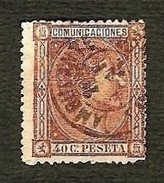 SPAGNA 1875 - Alfonso XII - 40 C. - Edi:ES 167 - 1875-1882 Regno: Alfonso XII