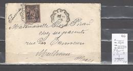 Lettres  Cachet  Convoyeur  Saint Maurice à Epinal - Et Retour - 2 Cachets - Marcophilie (Lettres)