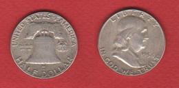 USA  -   1/2 Dollar 1954  --  Km # 199   ---  état  TTB - Émissions Fédérales
