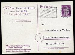 A4520) DR Ganzsachenkarte Mi.P314II Innerhalb Berlin 18.3.45 !! - Deutschland