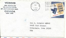 USA Cover Sent To Iowa Buffalo NY. 7-3-1988 - Etats-Unis