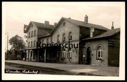 ALTE POSTKARTE WÜRSELEN BAHNHOF Gare Station Flagge Ansichtskarte Postcard Cpa AK - Würselen