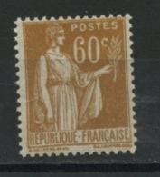 FRANCE -  60c BISTRE TYPE PAIX - N° Yvert 364** - 1932-39 Paix