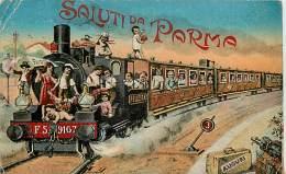 SALUTI DA PARMA ENFANTS ET CHEMIN DE FER - Parma