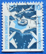GERMANY FREIMARKEN CITIES AND PLACES FLUGHAFEN FRANKFURT 10 Pf.1989 Mic.1347 D - USED