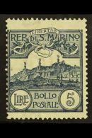 1903 5L Steel Blue Mt Titano (SG 51, Sass 45, Scott 75) Fine Mint. For More Images, Please Visit...