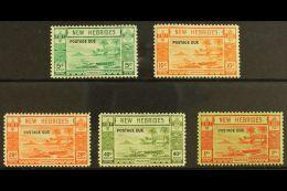 ENGLISH POSTAGE DUE 1938 Opt'd Set, SG D6/10, Fine Mint (5 Stamps) For More Images, Please Visit...