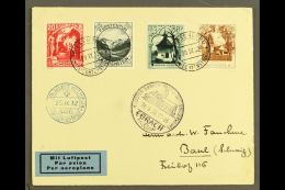 1932 BALLOON FLIGHT COVER (GORDON BENNETT COMPETITION) Bearing 1930 Pictorial Definitive 20r,25r,35r And 40r Tied...