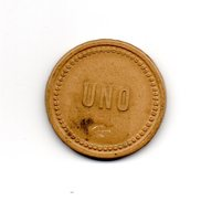JM INTROUVABLE INEDIT MONNAIE JETON DES MINES DU CHILI 1 PESO COMPAGNIE DES MINES DE HOUILLE PLEGARIAS - Monedas / De Necesidad