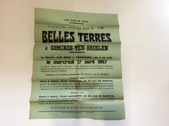OUDE AFFICHE  BRIELEN 1957 COMINES KOMEN - Affiches