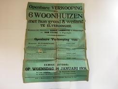 OUDE AFFICHE 1931  ELVERDINGE - Affiches