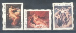 CENTENARIO DEL NACIMIENTO DEL PINTOR PEDRO AMERICO AÑO 1993 SERIE COMPLETA YVERT NRS. 2109-2111 MNH COMPLETE SET BRASIL - Desnudos