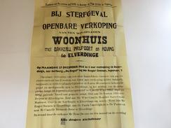 OUDE AFFICHE 1954  ELVERDINGE - Affiches