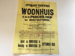 OUDE AFFICHE 1950 OOSTVLETEREN - Affiches