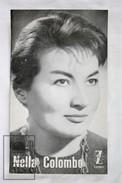 1960's Italian Singer Music Sheet/ Leaflet - Nella Colombo - Música Y Músicos