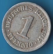 DEUTSCHES REICH 1 PFENNIG 1917 D