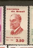 Brazil * & Centenary Of The Birth Of Paul De Frontin, Engineer 1960 (695) - Brésil