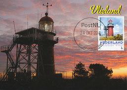 D29107 CARTE MAXIMUM CARD 2014 NETHERLANDS - VLIELAND PHARE VUURTOREN LIGHTHOUSE CP ORIGINAL - Lighthouses