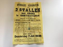 OUDE AFFICHE 1938 OOSTVLETEREN - Affiches