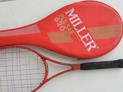 X Vintage Classic Tennis RACCHETTA Racquet Racket MILLER Pulsar 620 Con Custodia - Tennis