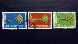 Portugal 1051/3 Oo/ESST, EUROPA/CEPT 1968