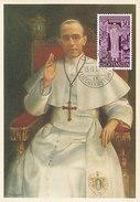 D29111 CARTE MAXIMUM CARD 1959 LIECHTENSTEIN - POPE PIUS XII CP ORIGINAL