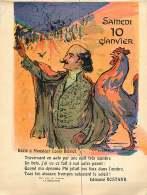 280217 - Feuille Extraite De L'ALBUM REVUE Des OPINIONS CALENDRIER 1914 éphéméride - 10 Janv  BLERIOT ROSTAND ENIGME COQ - Old Paper