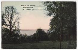 MT VERNON MANSION VA - Potomac View From Veranda - C1910s Postcard Virginia Historic - History