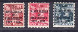SAMOA 1935. COMPLETE SET SILVER JUBILEE KING GEORGE V   .MLH. SES869 - Samoa