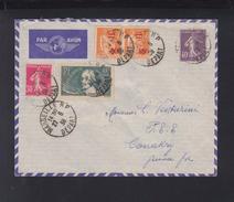 France Lettre 1938 Marseille Pour Conakry - Poststempel (Briefe)