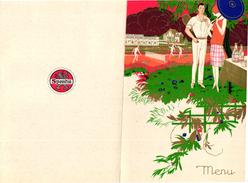 1 Menu Card  C1930 SPORT TENNIS Pub Spontin Mineral Water Grande Source Nationale - Tennis