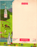 1 Menu Card  C1930 SPORT TENNIS Pub VITTEL  Mineral Water Grande Source Golf Hockey - Tennis