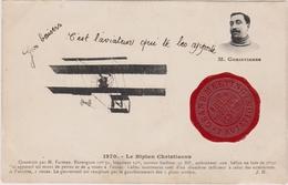 CPA - Le Biplan De Christiaens - Cachet Du Grand Meeting De Rouen 1910 - ....-1914: Précurseurs