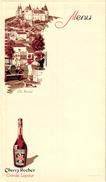 1 Menu Card  C1930  SPORT  LAWN -TENNIS Pub Liqueur Cherry Rocher - Autres