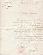 Lot De 2 Lettres Du Maire De Vourey (38), 2/1 Et 7/8/1907 - 1900 – 1949