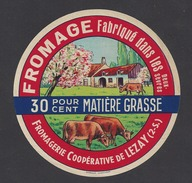 Etiquette De  Fromage  -  Lait. Coop. De Lezay  (79 ) - Fromage