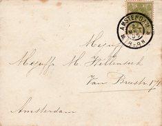 1905 Lokaalbriefje  Van Amsterdam Met Enkelfrankering NVPH 57 - Periode 1891-1948 (Wilhelmina)