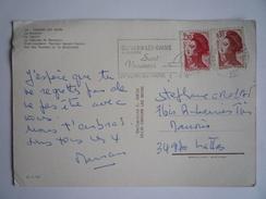 1-8-1985 NOUVEAU TARIF PREMIER JOUR - J TP LIBERTÉ N° 2179 + 2319 - CP CAPVERN-LES-BAINS (65) MULTIVUES HAUTES-PYRÉNÉES - Marcofilie (Brieven)