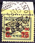 Vatikan - MiNr. 5 Mit Rotem Aufdruck Neuer Wert (MiNr. 16) 1931 - Gest. Used Obl.