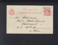 Hungary Letter Card 1907 Diosd To Wienna - Briefe U. Dokumente